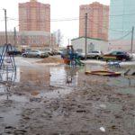 В «Радужном» в грязи тонут детские площадки