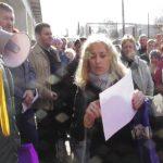 Стихийный митинг против московского мусора в Вышнем Волочке. Волочане учат архангельский опыт