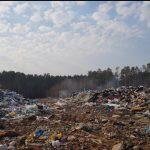 На свалке под Калязином не торопятся тушить горящие медицинские отходы