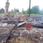 В Ржевском районе сгорело бывшее здание сельского дома культуры, брошенное властью на произвол судьбы