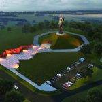 В Ржевском районе продолжается возведение грандиозного памятника Советскому солдату.  Работы ведутся под контролем  Правительства РФ и руководства Союзного государства