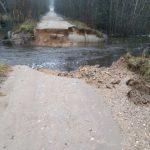 В Волочке подтопило дома, а в Лихославльском районе вода смыла дорогу
