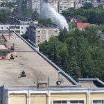 В Твери забил фонтан выше пятиэтажного дома