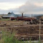 В Рамешках лесопилка отравляет воздух едким дымом