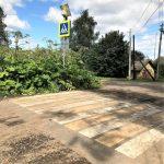 Фотофакт: в Ржевском районе «зебра» упёрлась в заросли борщевика
