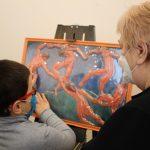 Открытие выставки тактильных картин «Искусство на кончиках пальцев»