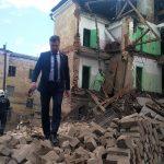 В Ржеве рухнула стена трёхэтажного здания